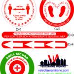 vetrofanie adesivi  coronavirus COVID-19
