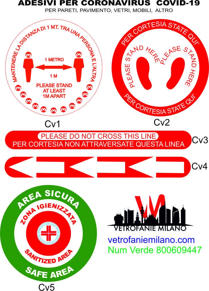 adesivi vetrofanie coronavirus covid-19